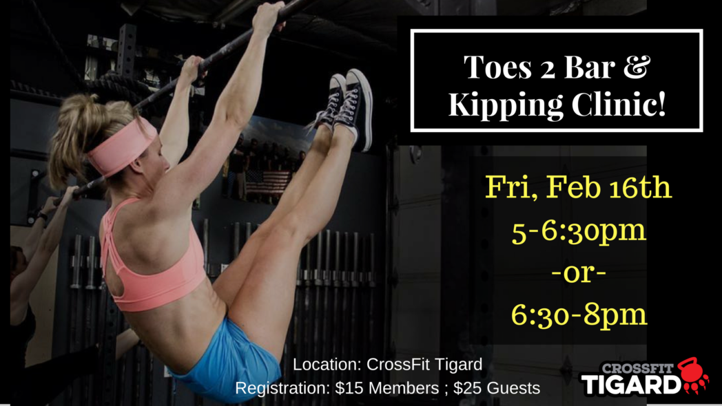 Toes to Bar at CrossFit Tigard PAW