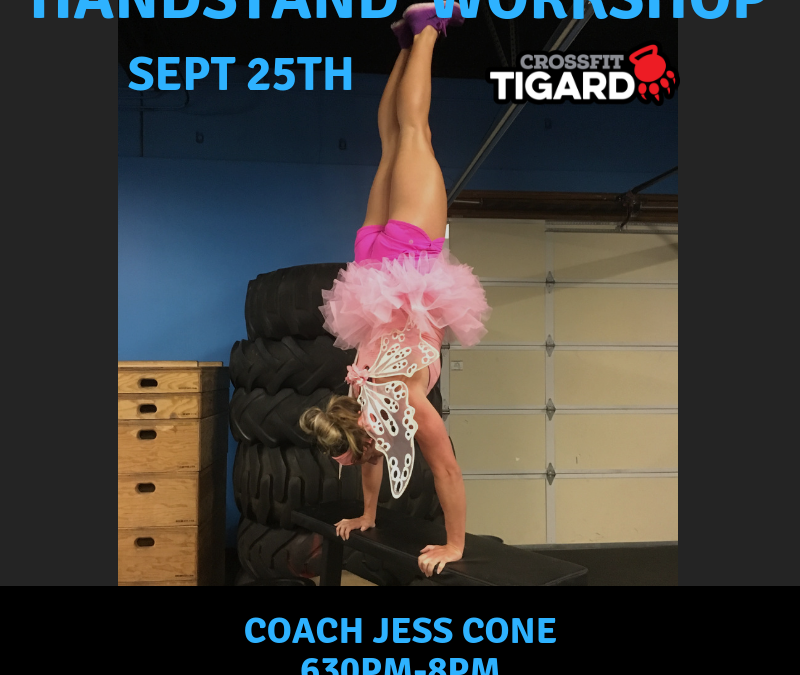 Handstand Pushup Workshop – Sept 25th
