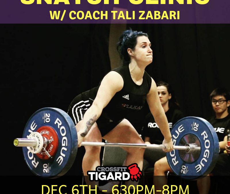Snatch Clinic with Tali Zabari