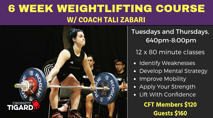 6 Week Olympic Weightlifting Course