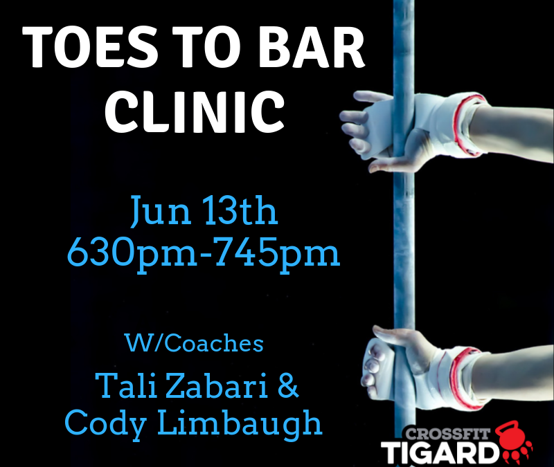 Toes to Bar Clinic – Jun 13th