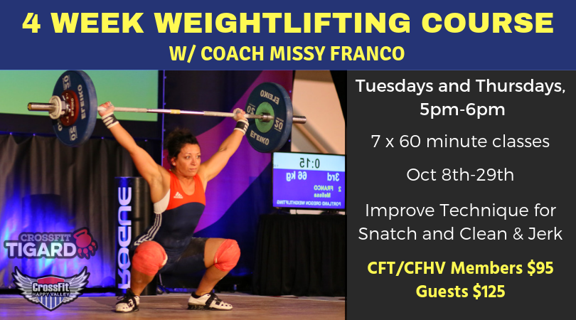 Weightlifting Course – Oct 2019